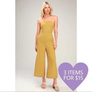 3/$15 Strapless Jumpsuit Gaucho Yellow Size M